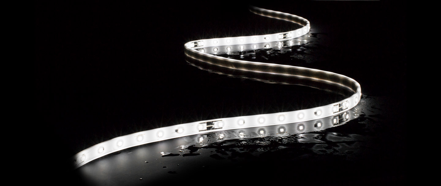 HOLECTRON - IP67 flexible outdoor strips with NICHIA LED