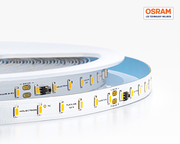 High lumen output flexible Osram LED strips