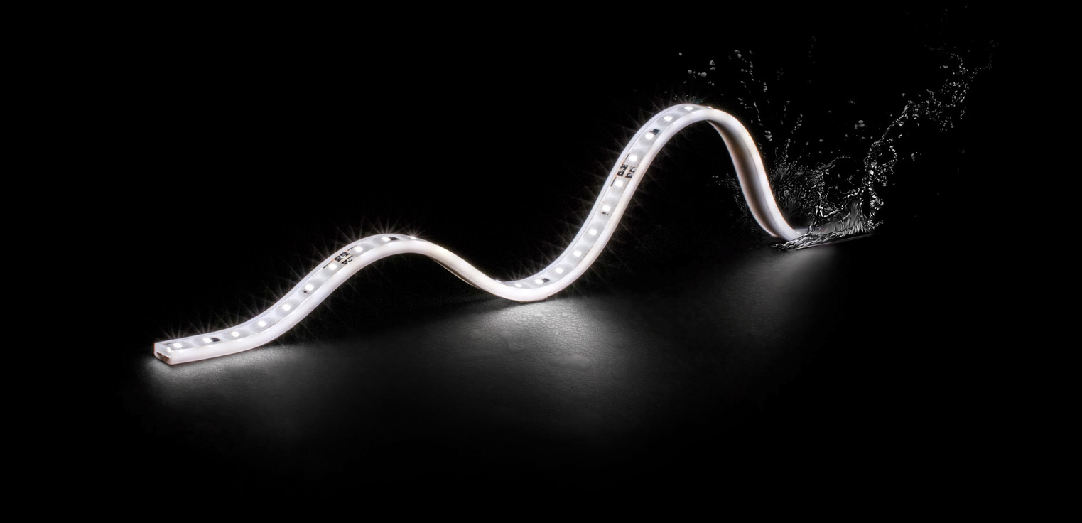 IP67 flexible outdoor strips with Nichia LED