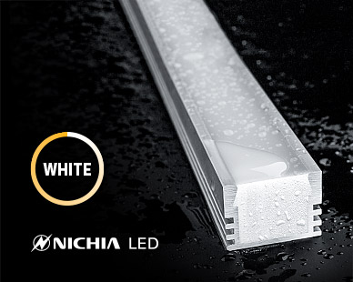 IP67 rated for outdoor applications with NICHIA LED strip lights