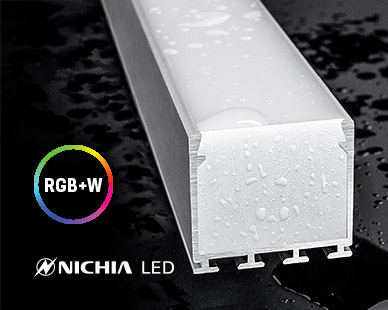 IP67 rated waterproof for outdoor - RGB+White - dynamic colors - with NICHIA LED strip lights