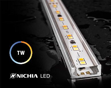 LED strip in aluminum housing, fully waterproof, dustproof