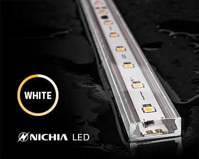 Non-flexible NICHIA outdoor LED strip lights